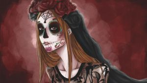 Sugar Skull Michelle by DemonicBlackCat