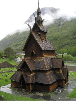 900 Years Old Borgund Stave Church, Norway by arriannearouet