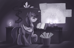 Some REALLY late gift art by bronyseph