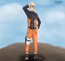 Naruto in my new style by LacteaWay