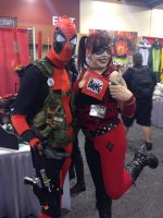 Phoenix Comicon 2014 Deadpool and Harley Quinn by Demon-Lord-Cosplay
