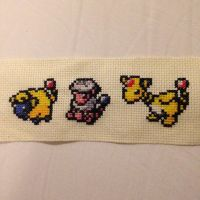 Mareep, Flaaffy and Ampharos by GloriousKiwi