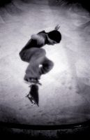 Kickflip in the bowl by andreasandrews