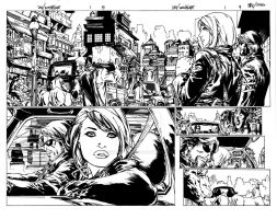 Witchblade/Devi #1  pg #8-9 ink by VincentDorian