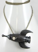 Retro Rocket Necklace by NeverlandJewelry