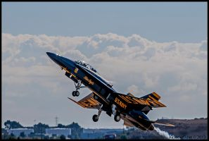 Miramar Look Back III  Blue Angel Liftoff by AirshowDave