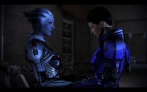ME3 Jane Shepard and Liara by chicksaw2002