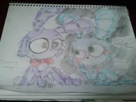 Old I mean beautiful Bonnie and New Bonnie by greendrawer
