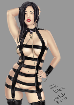 Miki Black in latex by NoStylinProduction