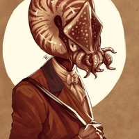 Commission - Holy Nautilus (Icon) by BagelHero-Works