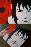 Painting Sasuke Crying by iareawesomeness