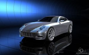 Ferrari Scaglietti 3D Render by mike-reiss