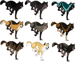Wolf Adoptables (Points) 2 left by 100percentWOLF-LOVER