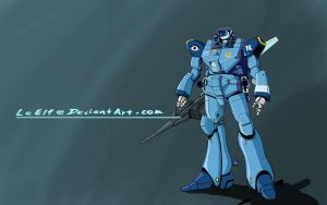 ROBOTECH: Recon Escort Battloid by LeElf