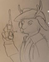 Quick Rex Marksley Jackalope Sketch by CharlieOleChap