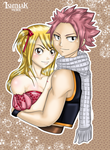 Natsu and Lucy by Ishthak