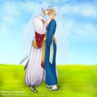 Sesshoumaru and Aurora Request by Annyaonweb