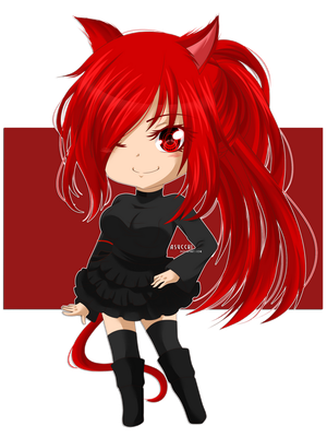 [Fairy Tail OC] Camila Dragneel Chibi By: Asucchi by EclairDloodyDemon