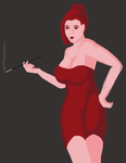 Lady in Red - Speed Paint by Logic-Core