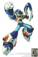 MEGAMAN X ALL X ARMOR OFFICIAL ART by donaldrockman