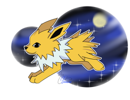DAY 06_ Favorite ELECTRIC type - JOLTEON by FoMNLiNX