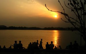Sunset at Ganges by dipur86