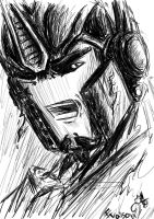 TFP-Scribbled Optimus by Evaison