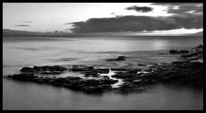Maui Sunset BW by themobius