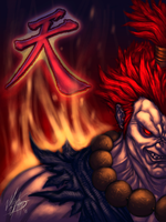 Street fighter-Akuma by mlappas