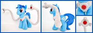 Techno Blue Custom OC Plushie W/ Posable Arms by SnuggleFactory