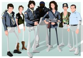 Nostromo Crew by Cranimation