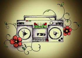 Ghetto Blaster Tat by BenjiRox