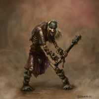 Skeleton-warrior by Ketka