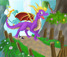 Spyro 8D happy B-Day gerbuulo by Lilac-The-Gerbil