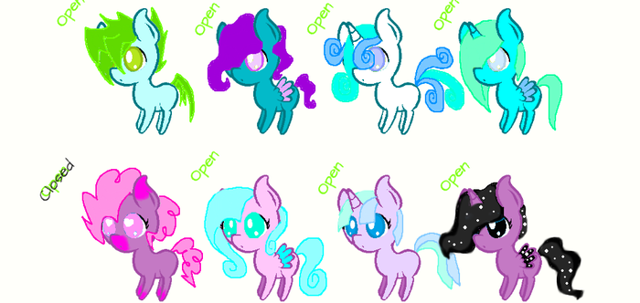 1 point pony adoptables by Darumemay