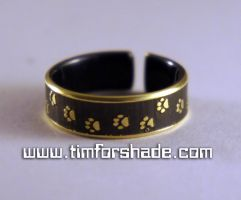 Brass Ring of the Cat's Grace adjustable ring by TimforShade