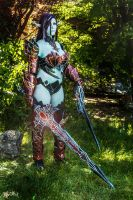 Blade Dancer! Dark Elf in draconic- Lineage II 2 by dani-foca