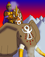 Hannibal on His Elephant by BrandonSPilcher