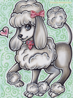 Cute Poodle Sequin by Primarella