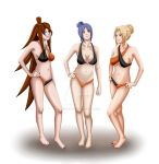 Mei, Konan and Tsunade by ArisuAmyFan