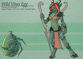 Wild Vines Egg (Hatched Adoptable) by Ulario