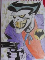 The Joker - Coloured Drawing by MikeBaker95