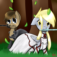 Derpy and Doctor Whooves SAO by catopia26