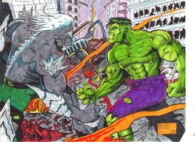 The Hulk vs Doomsday by gagex07