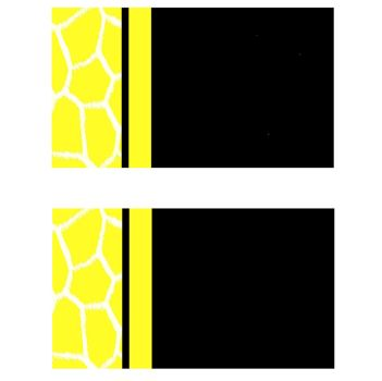 Fluorescent Yellow Giraffe Business Card Templates by StacyO