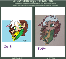 Rogue has a crush (draw this again) by Sew-What