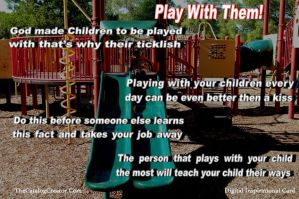 Play with them-Digital Inspirational Card by thecatalogcreator