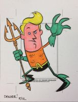AQUAMAN sketchcard by thecheckeredman