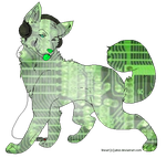 Green Techno Wolf Adopt OPEN by TranquilityBlue