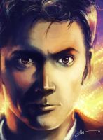 David Tennant by Jaybirdy